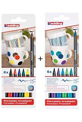 Soğuk + Ana Renkler Porselen Boyama Kalem Seti