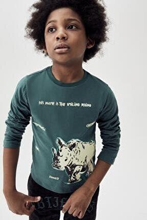 Erkek Çocuk Yeşil T-shirt 20fw0nb3521