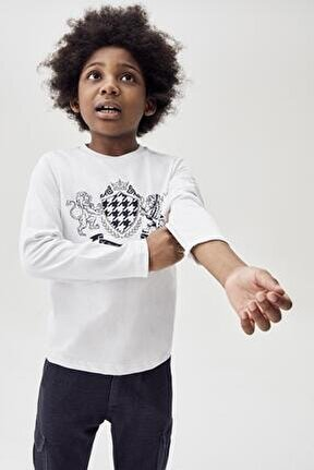 Erkek Çocuk Beyaz T-shirt 20fw0nb3523