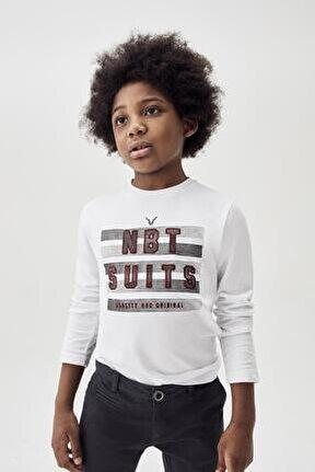 Erkek Çocuk Ekru T-shirt 20fw0nb3522