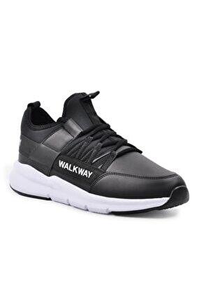 Wlk23107 Siyah-beyaz Erkek Spor Ayakkabı