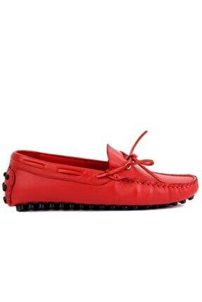 - Hakiki Deri Kırmızı Erkek Loafer