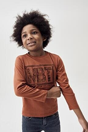 Erkek Çocuk Kiremit T-shirt 20fw0nb3517