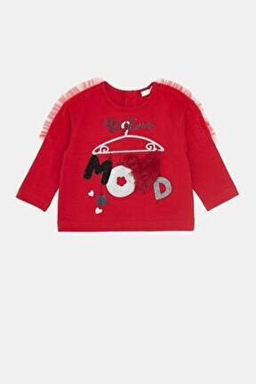 Kız Bebek Kırmızı T-shirt 20fw0bg2514