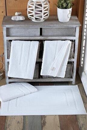 4 Adet Odelia Serisi Ayak Havlu 50x70 200gr Beyaz
