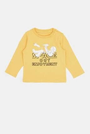 Erkek Bebek Sarı T-shirt 20pfwbg1501