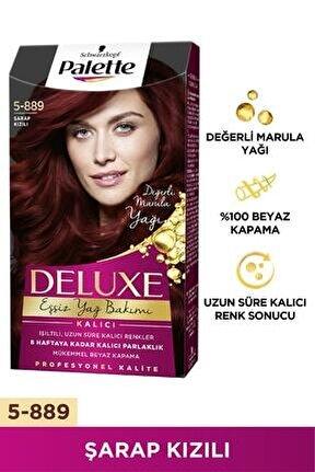 Deluxe 5-889 Şarap Kızılı Saç Boyası