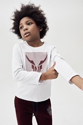 Erkek Çocuk Beyaz T-shirt 20fw0nb3515