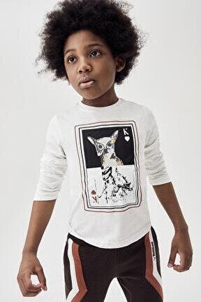 Erkek Çocuk Ekru T-shirt 20fw0nb3518