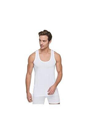 Erkek (beyaz) 6'lı Paket Penye Atlet %100 Pamuklu