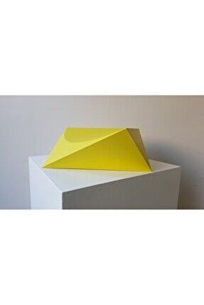 Ritim Serisi Yellow, 14x31x35, Seramik Heykel