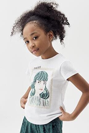 Kız Çocuk Beyaz T-shirt 20pfwtj4501
