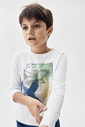 Erkek Çocuk Beyaz T-shirt 20fw0nb3509