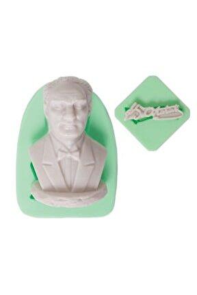 Atatürk Büstü Ve Imzası Silikon Kalıbı