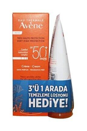 Cream Spf 50 + 50 ml 3'ü 1 Arada Temizleme Losyonu 100 ml3282779382243