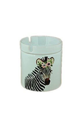 Seramik Zebra Baskılı Küllük
