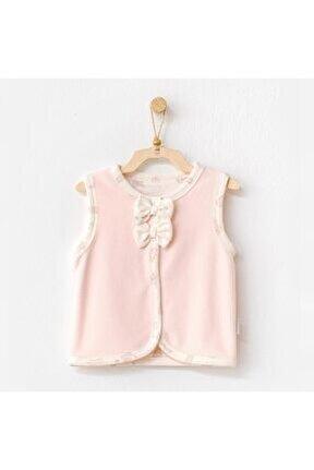 Kız Bebek Pembe Meow Kadife Yelek Ac21111