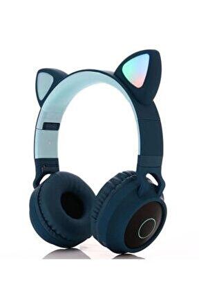 Kedi Bluetooth Kulaklık Cat Ear Wıreless Kulaklık Zw-028