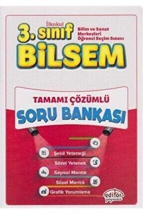 Editör 3.sınıf Bilsem Tamamı Çözümlü Soru Bankası (Büyük Boy)