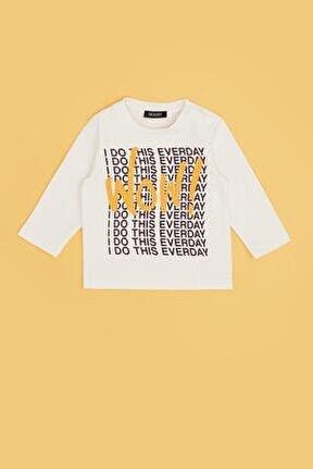 Erkek Bebek Ekru T-shirt 20fw0bg1526