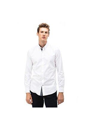 Nautıca Erkek Beyaz Slım Fıt Gömlek