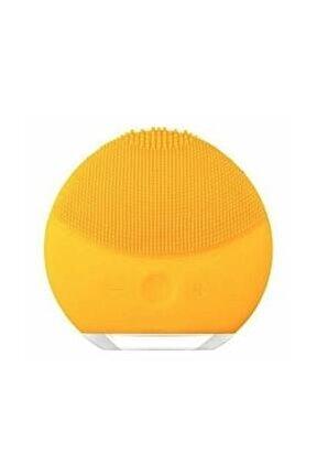 Şarj Edilebilir Yüz Cilt Temizleme Cihazı Ve Makyaj Temizleme Cihazı Masaj Aleti-sarı