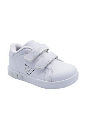 313.P19K.100-11 Beyaz Kız Çocuk Yürüyüş Ayakkabısı 100578850