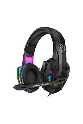 Karler Bass Rgb Kablolu Led Işıklı Mikrofonlu Profesyonel Oyuncu Kulaklığı R9000