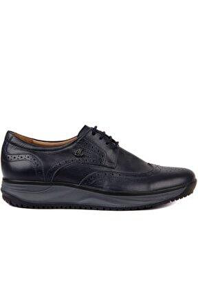 - Lacivert Deri Erkek Günlük Ayakkabı