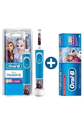 D100 Şarj Edilebilir Diş Fırçası Frozen+ Çocuk Diş Macunu Frozen 75 Ml