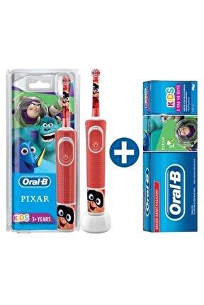 D100 Çocuklar Için Şarj Edilebilir Diş Fırçası Pixar+ Pixar Diş Macunu 75 Ml