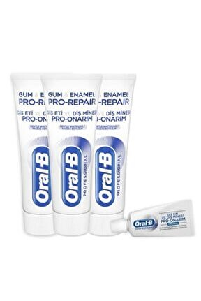 Diş Eti Ve Diş Minesi Pro-onarım Hassas Beyazlık 75 Ml X 3 Adet+ Diş Macunu 15 ml