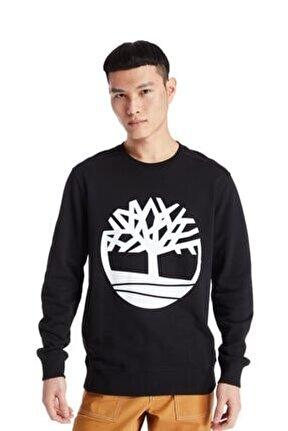 Yc Core Tree Logo Crew Neck Erkek Sweatshirt Siyah