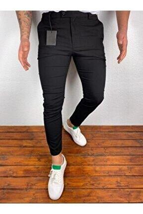 Luppon Düz Basic Italyan Kesim Spor Kumaş Pantolon
