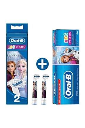 Diş Fırçası Yedek Başlığı Frozen 2'li+ Çocuk Diş Macunu Frozen 75 Ml