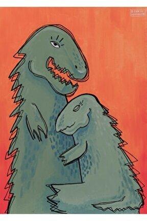 Dinozorlar, 70x50, Tuval Üzerine Akrilik