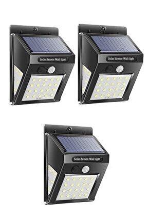 Güneş Enerjili Sensörlü 30 Led Dış Mekan Aydınlatma 3 Adet Ever Bright