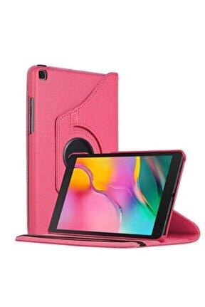 "Microsonic Galaxy Tab A 8"" 2019 T290 Kılıf 360 Rotating Stand Deri Pembe"