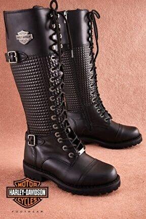 Tiny Black Deri Kadın Çizme