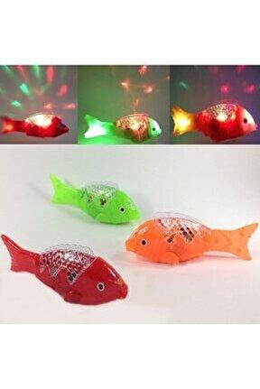 1 Adet Müzikli Işıklı Bebeklerin Emekleme Arkadaşı Yürüyen Balık Oyuncak Balık