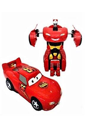Şimşek Mcqueen Cars Robota Dönüşen Transformers Oyuncak Araba