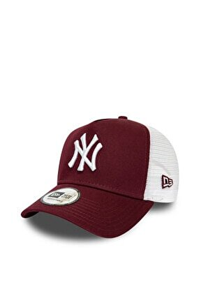 New York Yankees Maroon A-Frame Trucker Snapback Şapka 12285470