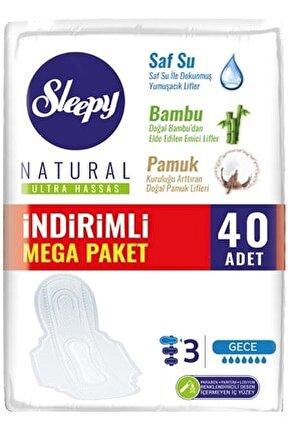 Natural Ultra Hassas Gece Mega Paket 40 Adet