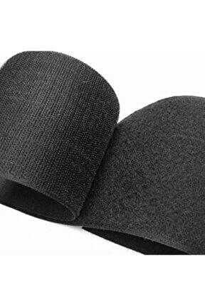 Cırt Bant Seti 15 Cm Genişlik Siyah - Yapışkansız 1 Metre ( 1 Metre Kanca - 1 Metre Ilmek )