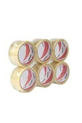 Koli Bandı 45 x 100 Şeffaf Bant 6'lı Paket