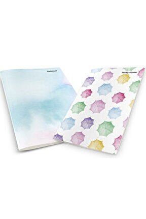 Colorful Watercolor Umbrellas Planner & Notebook