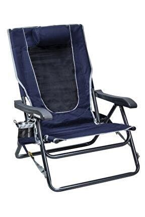 Backpack 4 Kademeli Katlanır Kamp Sandalyesi Lacivert