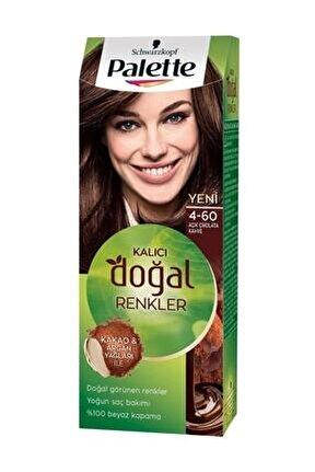 Kalıcı Doğal Renkler 4-60 Açık Çikolata Kahve