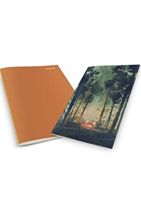 Camping In The Forest At Night Weekly Planner & Notebook