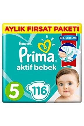 Bebek Bezi Aktif Bebek 5 Beden Junior Aylık Fırsat Paketi